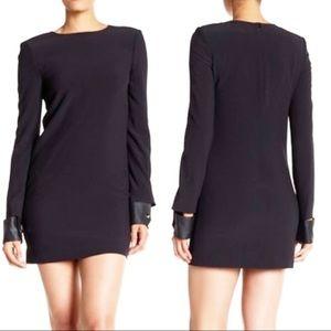 Helmut Lang black leather cuff mini dress 6